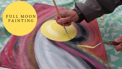 """Full moon painting"""